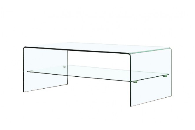 Table basse design verre roulettes - Table basse design en verre trempe ...