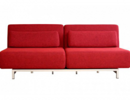 Loveseat: Canapé convertible design rouge - SoDezign