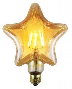 Ampoule à filament LED Vintage Etoile - E27