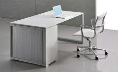 Bureau avec Caisson Personnalisable LOOPY - Design Bralco