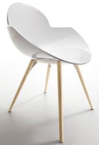 Chaise 4 Pieds Bois COOKIE - Design Studio Zetass - Infiniti