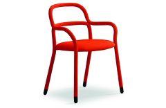 Chaise pieds en acier Pippi - Design Roberto Paoli - Midj