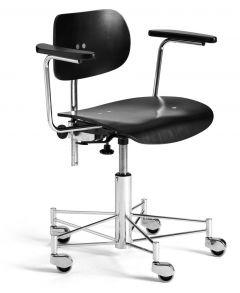 Chaise de Bureau à Roulette SBG 197 R - Design Egon Eiermann - Wilde + Spieth
