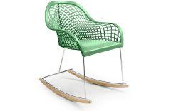 Rocking Chair en cuir Guapa DNB - Design Sempere et Poli - Midj