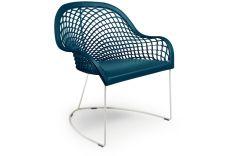 Chaise large en cuir avec accoudoirs Guapa AT - Design Sempere et Poli - Midj