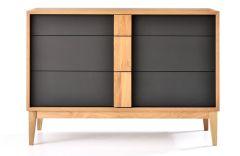 Commode en bois avec 3 tiroirs Korey - Design Tagged
