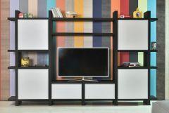 Etagère Meuble TV Puzzle en Bois - Tagged