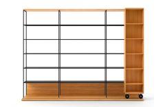 Étagère bibliothèque Literatura Open - Hauteur 225 cm - Design Vicent Martínez - Punt