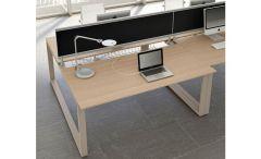 Bureau avec Plateau Coulissant LOOPY S - Design Bralco