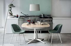 Table de repas ovale à rallonge 120 à 180 cm Link - Design Studio 28 - Midj