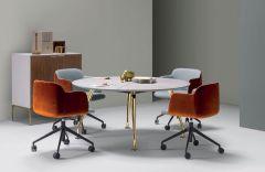 Table de réunion ronde Infinity - Ø 120 à 300 cm - Design Roberto Baciocchi - Quinti