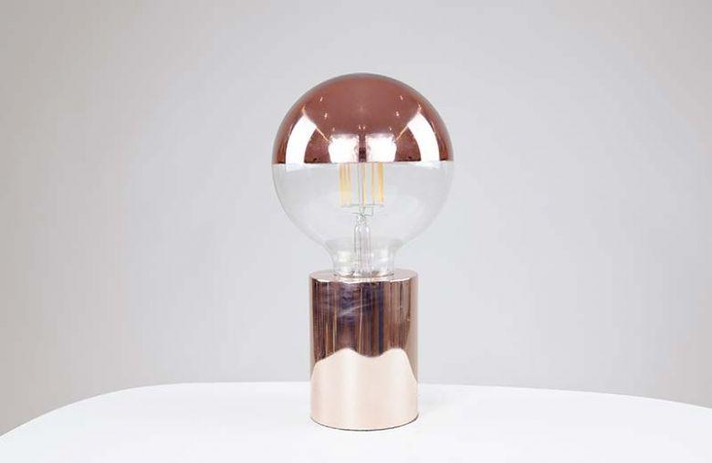 Ampoule à filament LED GLOBE 125 CROWN - E27 - Ø 12,5 cm - Cuivré - Design Thermolamp