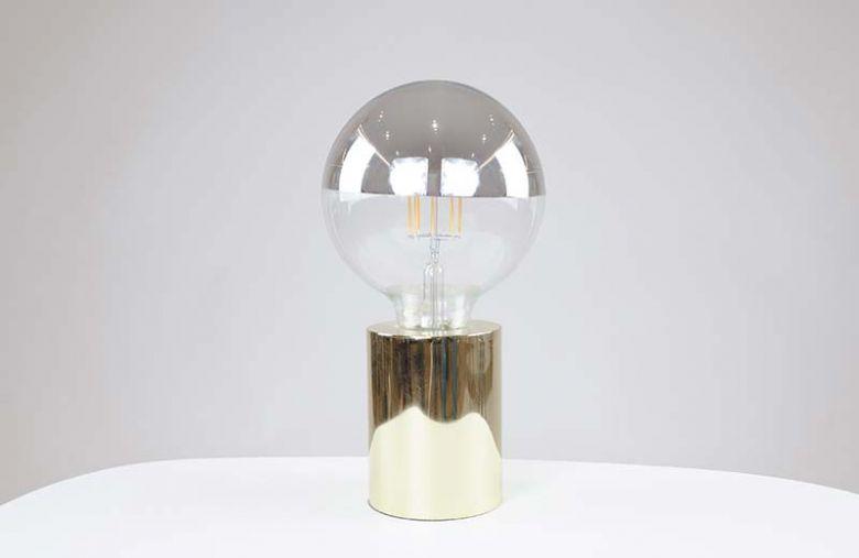 Ampoule à filament LED GLOBE 125 CROWN - E27 - Ø 12,5 cm - Argenté - Design Thermolamp