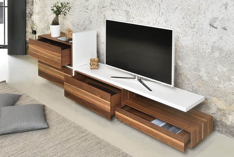 Banc TV en Bois Abile - Profilo Design - Tagged