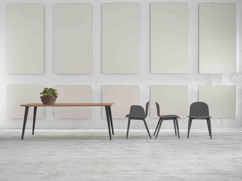 Chaise 4 Pieds Bois Bob XL accoudoirs - Design Nadia Arratibel - Ondarreta