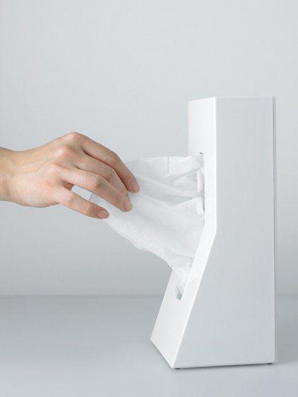 Boite à Mouchoir Design Verticale Stand Par Genta Kanayama - Blanc