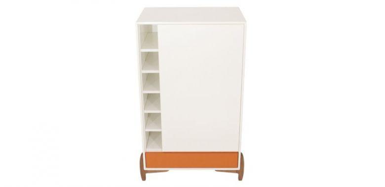 Buffet Design Karri Orange et Blanc - 105 cm