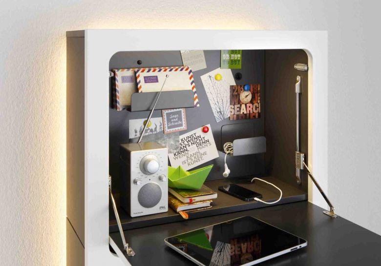 Bureau Secrétaire Design Slim Desk Smaider - Blanc Mat