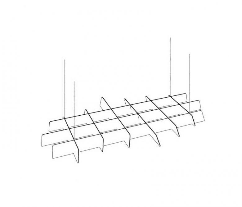 Élément Suspendu Acoustique BuzziGrid - Design BuzziSpace