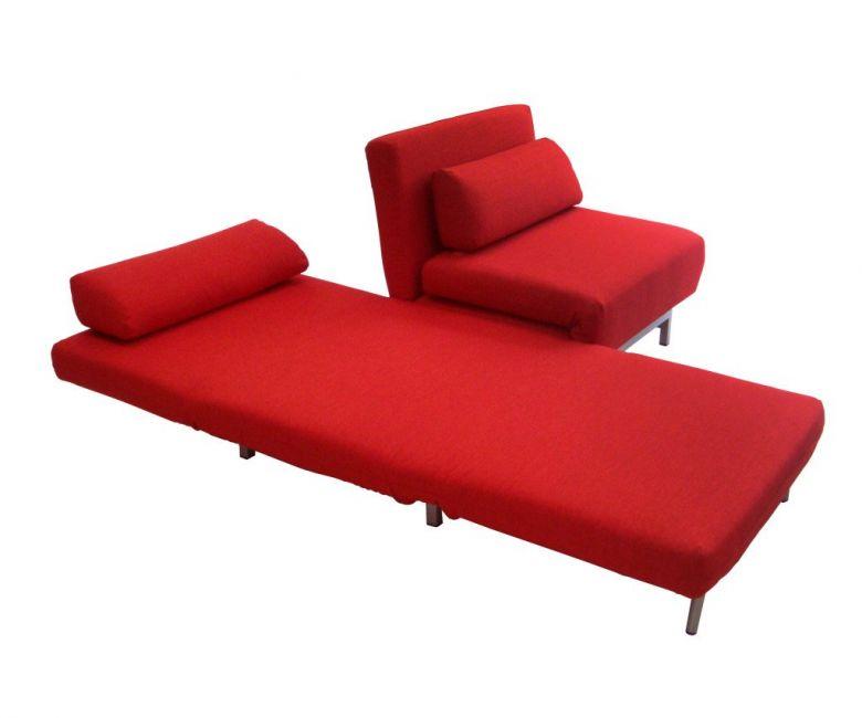 Canapé Convertible Design Loveseat Rouge
