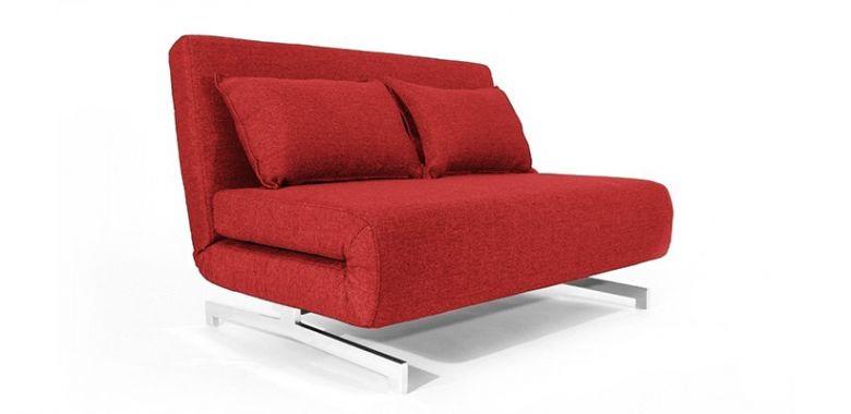 Canapé Convertible Design Stockholm Rouge - 120 cm