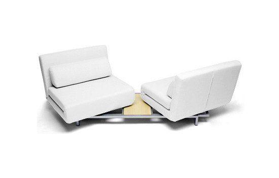Canapé Convertible Design Loveseat Blanc