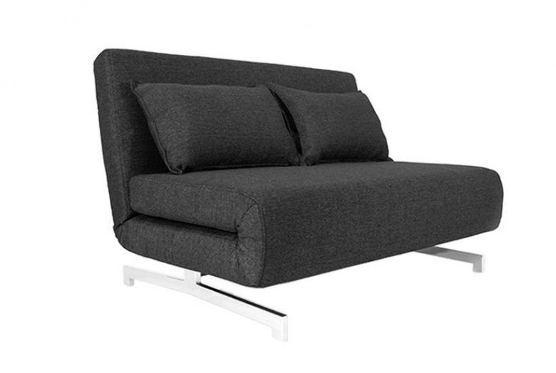 Canapé Convertible Design Stockholm Noir / Gris anthracite - 120 cm