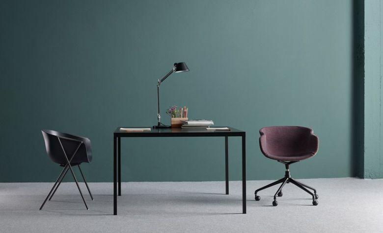 Chaise Pivotante à roulettes en Polypropylène BAI - Design Ander Lizaso - Ondarreta