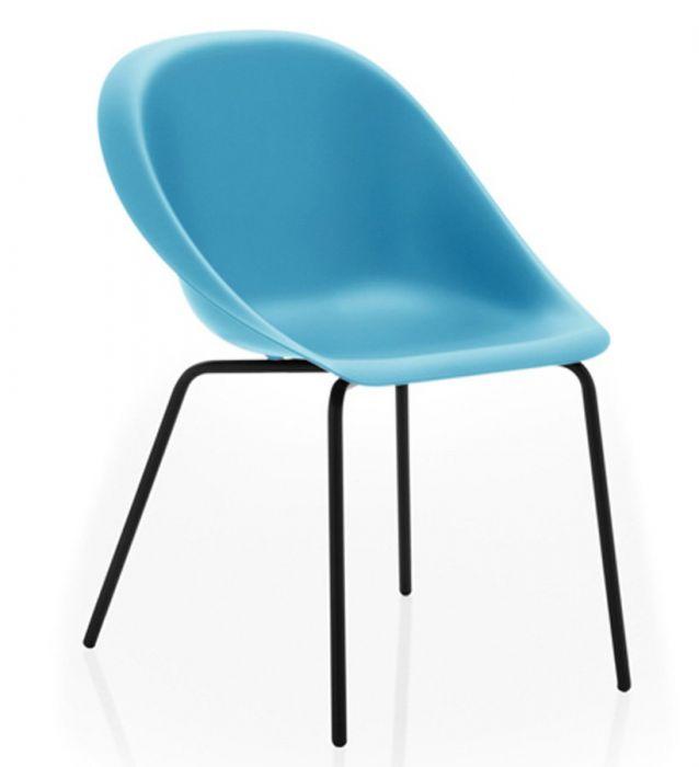 Chaise 4 Pieds In & Outdoor HOOP - Design Karim Rashid - B-Line
