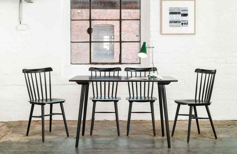 Chaise Ironica - 4 pieds en bois - Design Ton