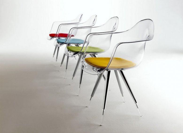 Chaise Design Diana Avec Accoudoirs en Polycarbonate