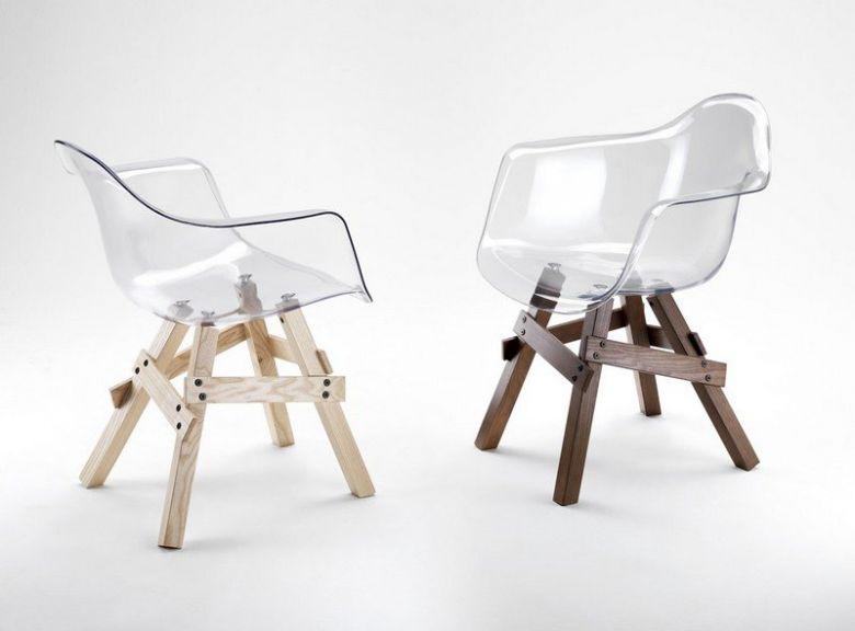 Chaise Design Lucina Avec Accoudoirs en Polycarbonate