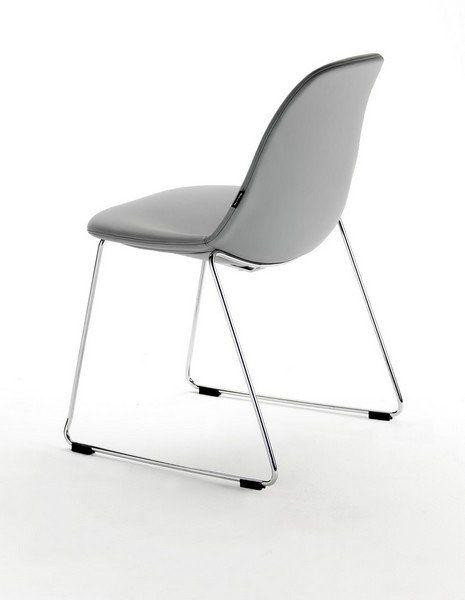 Chaise Empilable Design Rea en Cuir