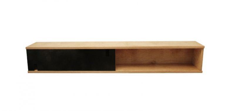 Etagère En Bois Double Design Fjord - Chêne - Orange Noir ou Blanc - Radis