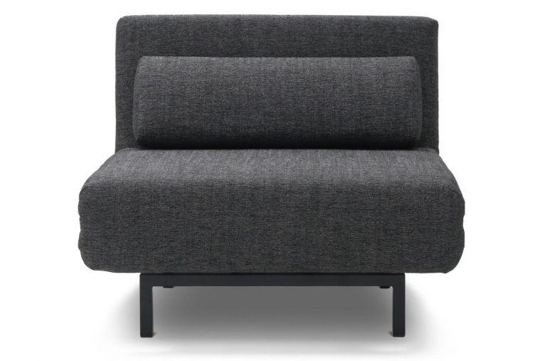 Fauteuil Convertible Design Loveseat Noir / Gris anthracite - Pivotant à 360°