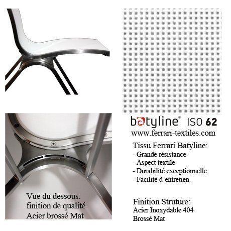 Chaise Design Extérieur Manhattan Diner Blanc