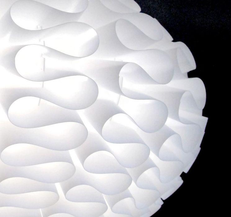 Suspension Lustre Design Origami Blanc Ø50cm