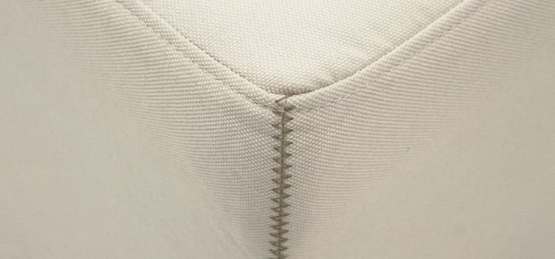 Pouf Lit Convertible Design Modulo - Blanc Cassé