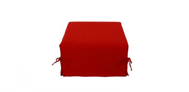 Pouf Lit Convertible Design Modulo - Rouge