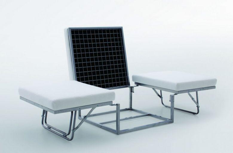 Pouf Lit Convertible Design Modulo - Marron