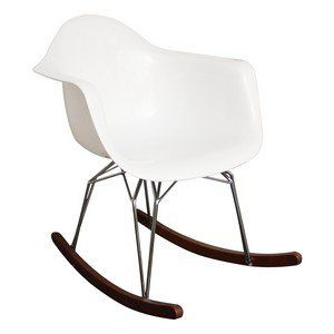 Rocking Chair Design Vesta en Polycarbonate - Fauteuil à Bascule