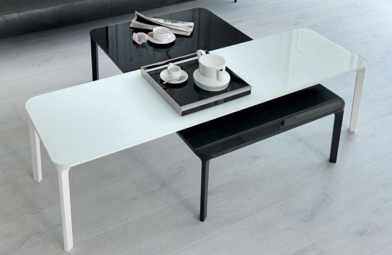Table basse rectangulaire Slim - 90 à 200 cm - Design Matthias Demacker - Sovet