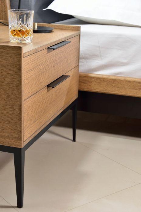 Table de chevet Moli - 2 Tiroirs - Design Tagged