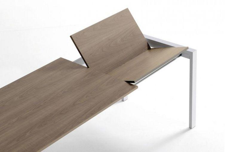 Table de Repas Carrée à Rallonge Punto 80 - Design Ondarreta