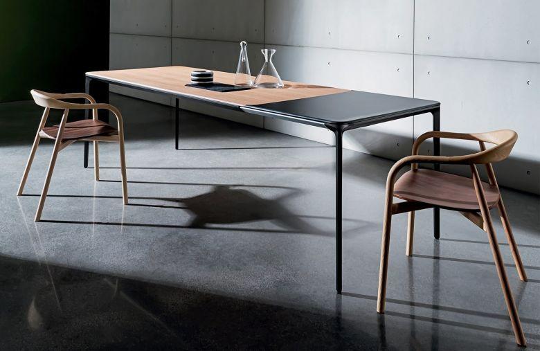Table de repas extensible SLIM - 120 à 200 cm - Design Matthias Demacker - Sovet
