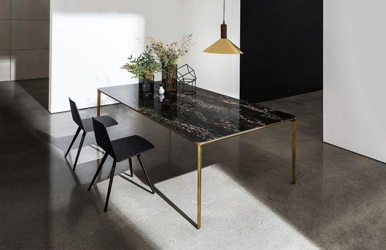 Table de repas rectangulaire SLIM - 120 à 240 cm - Design Matthias Demacker - Sovet