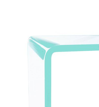 Table Gigogne En Verre Extra Clair Design 12MM