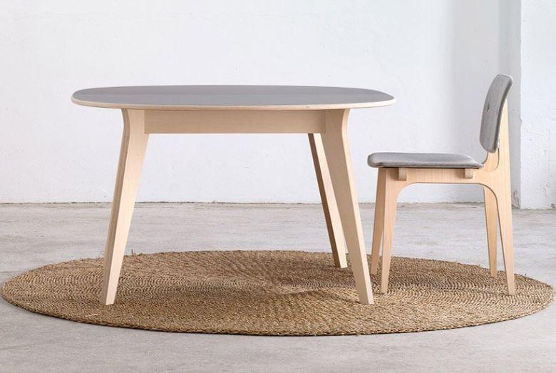 Table de Repas Ronde à Rallonge MIKADO - Design Nadia Arratibel - Ondarreta