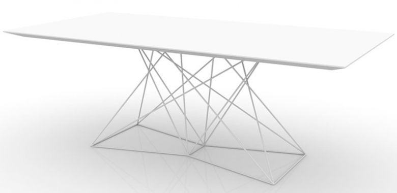 Table de Repas Rectangle Pied Acier Faz - Design Vondom