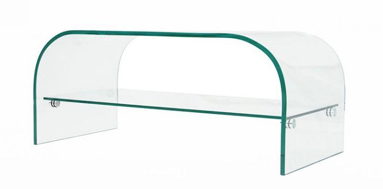 Petite Table Basse Design Lisa En Verre - 80 cm